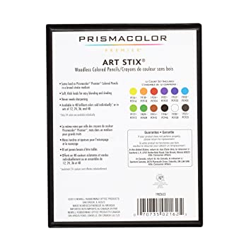 PrismaColor ART STIX Woodless Colored Pencils 12-Set