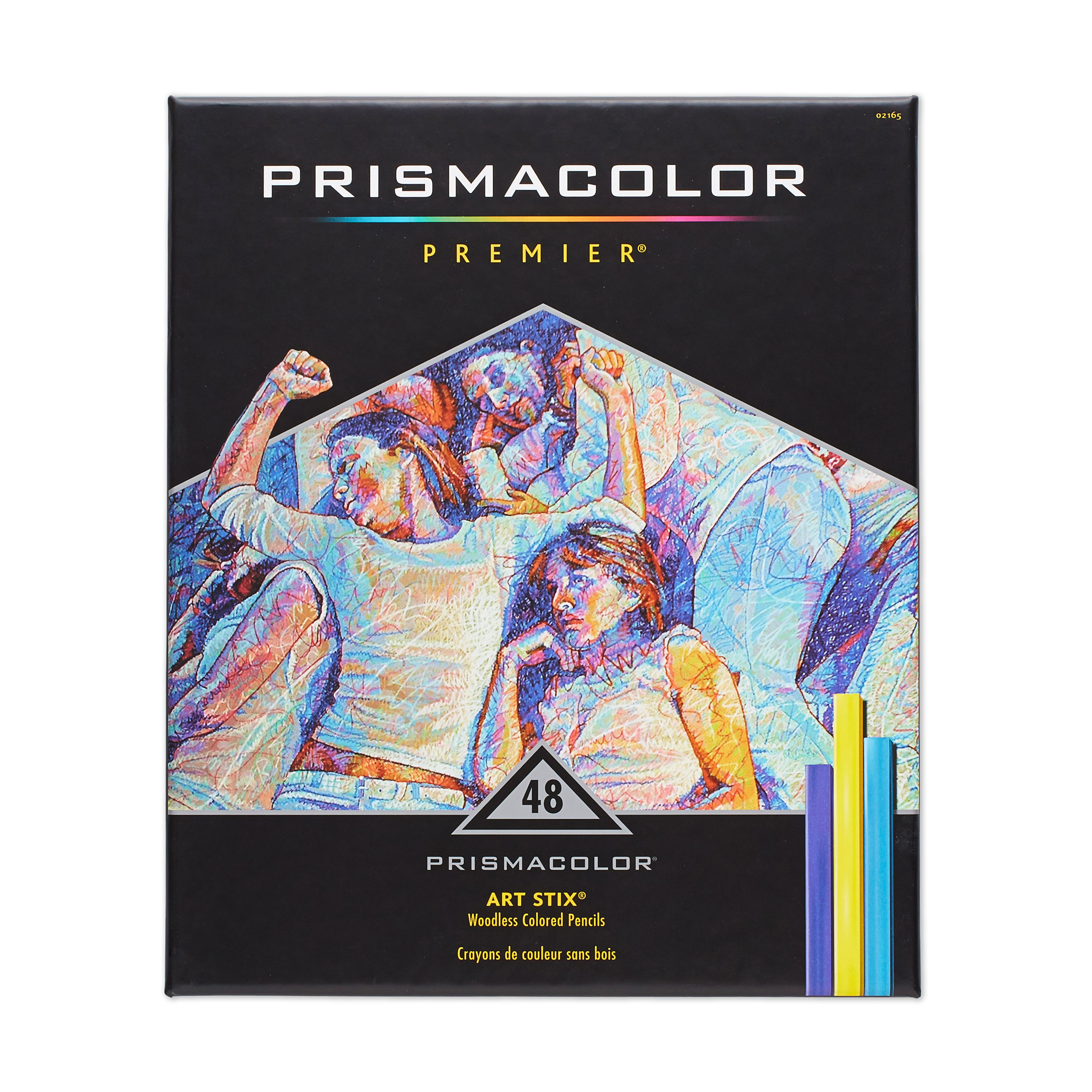 PrismaColor ART STIX Woodless Colored Pencils 48-Set