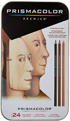 Prismacolor Sanford 25085R Premier Colored Pencils, Portrait Set, Soft Core, 24-Count