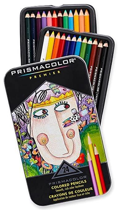 Prismacolor Premier Soft Core Colored Pencil, Set of 24 Assorted Colors (3597T)