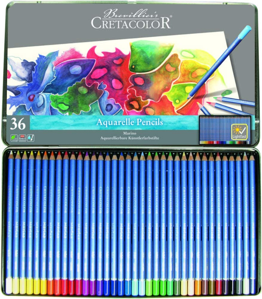 Cretacolor 240 ??? Marino 36 Watercolour Pencils Set of 36, Made from Wood
