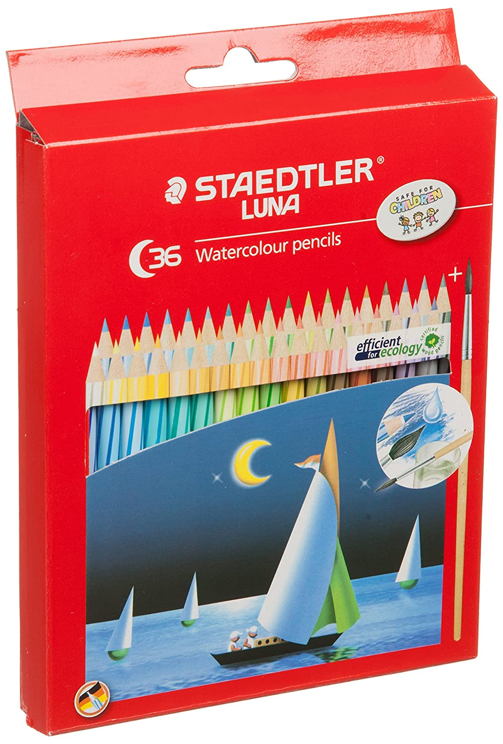 Staedtler Luna Aquarelle Water Color Pencil, 36 Shades