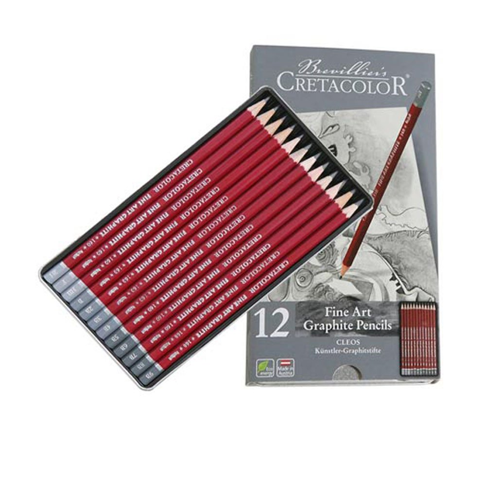 Cretacolor Cleos Fine Art Graphite Pencils Set of 12
