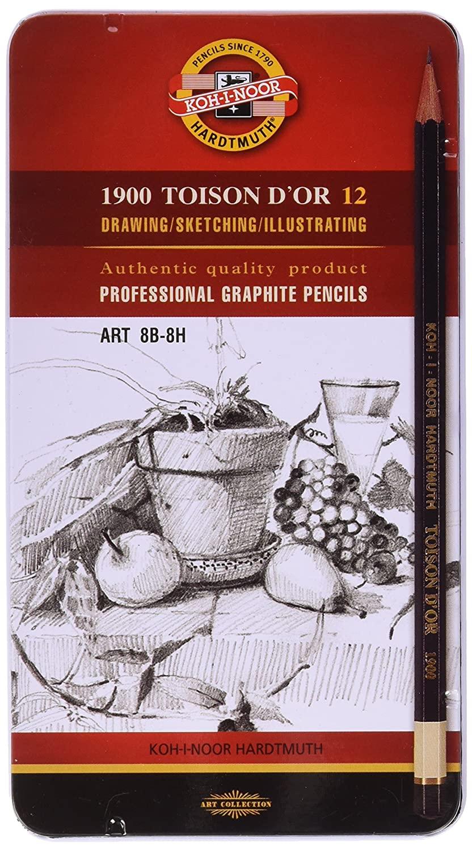Koh-i-noorGraphite Pencils 1902 8B-8H