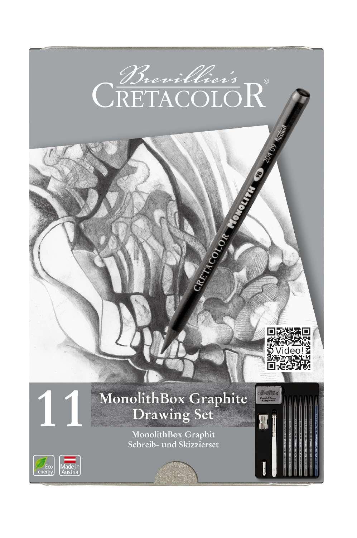 Cretacolor Monolith Woodless Graphite Pencils Set of 11