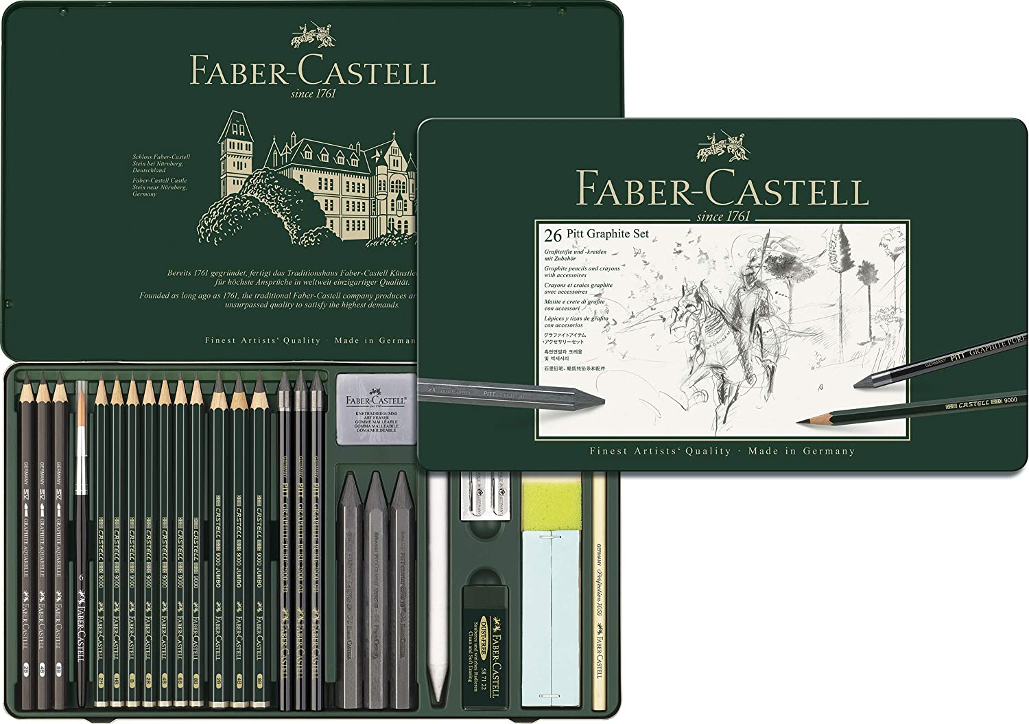 Faber-Castell Pitt Graphite Set - Pack of 26