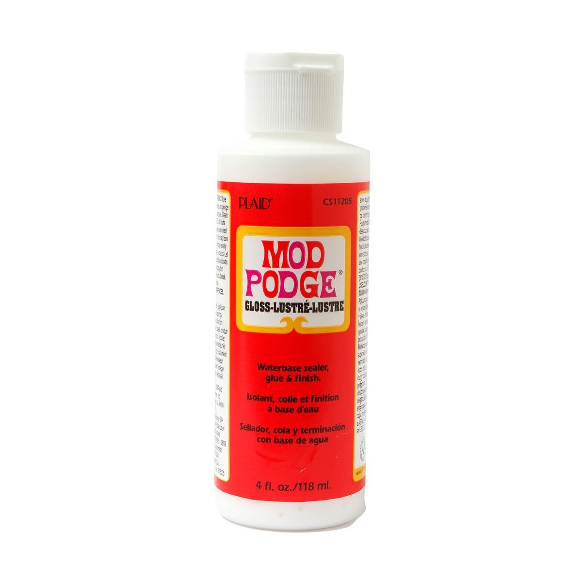 Mod Podge Gloss Water Base Sealer/Glue And Finish, White, 4 oz 118ml