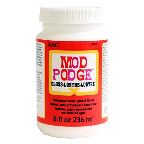 Mod Podge CS11201 Waterbase Sealer, Glue & Decoupage Finish, 8 oz, Gloss, 236ml