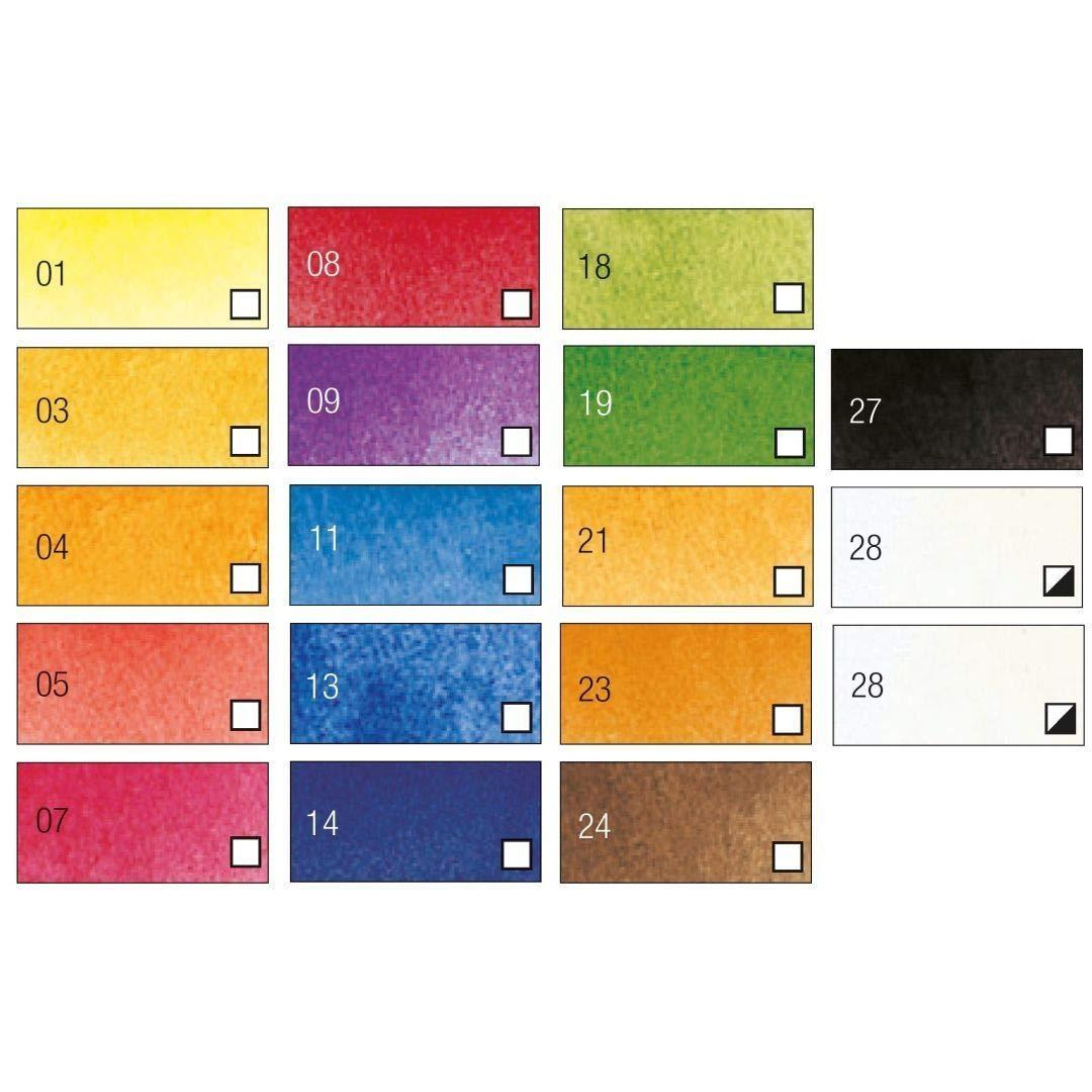 Pebeo Studio Aquarelle Fine Watercolours - Set of 18 Colours in 12 ML Tubes