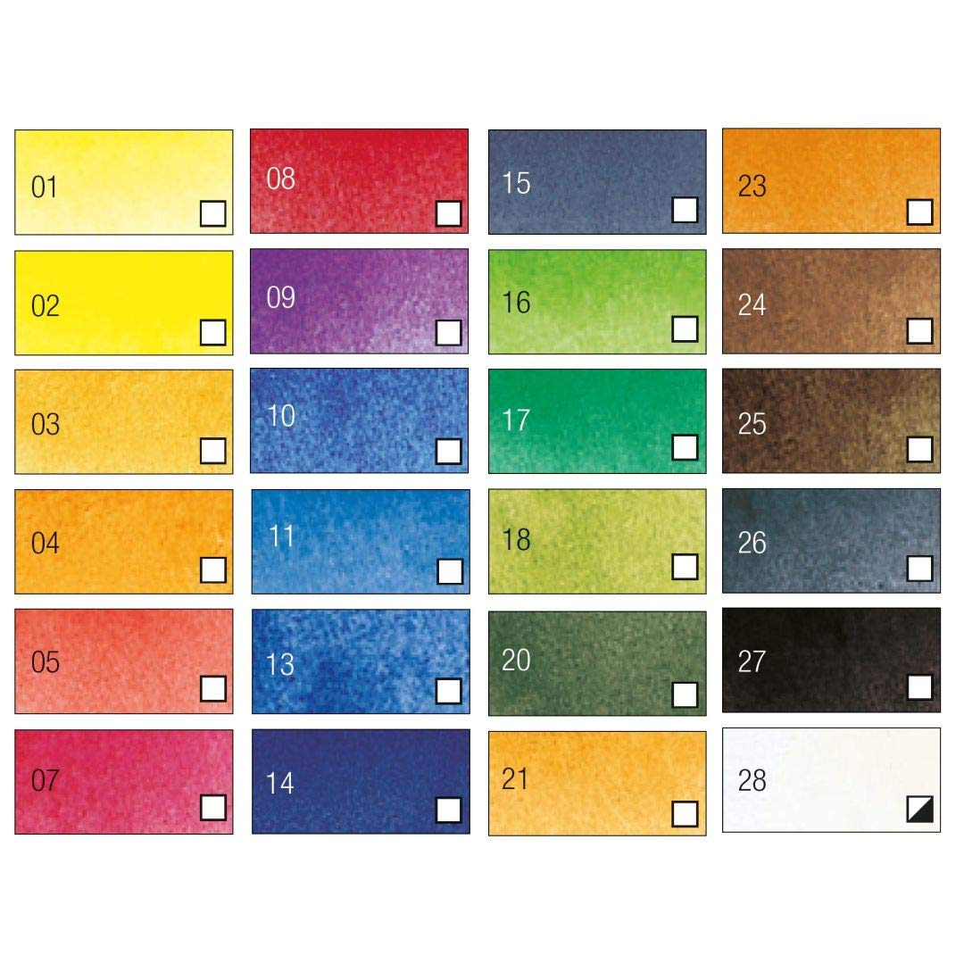 Pebeo Studio Aquarelle Fine Watercolours - Set of 24 Colours in 12 ML Tubes