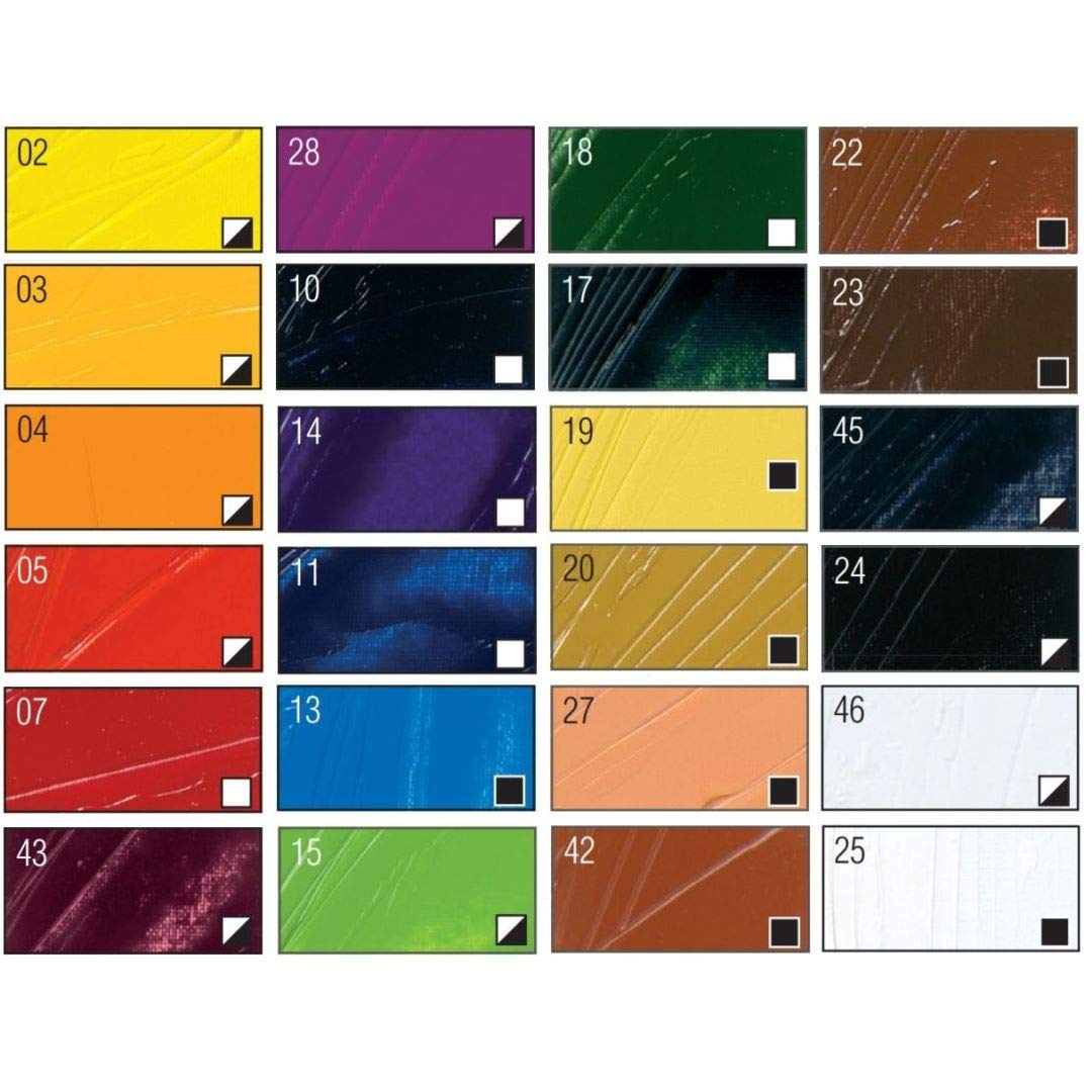Pebeo Studio Fine XL Oil - Set of 24 Colours in 12 ML Tubes