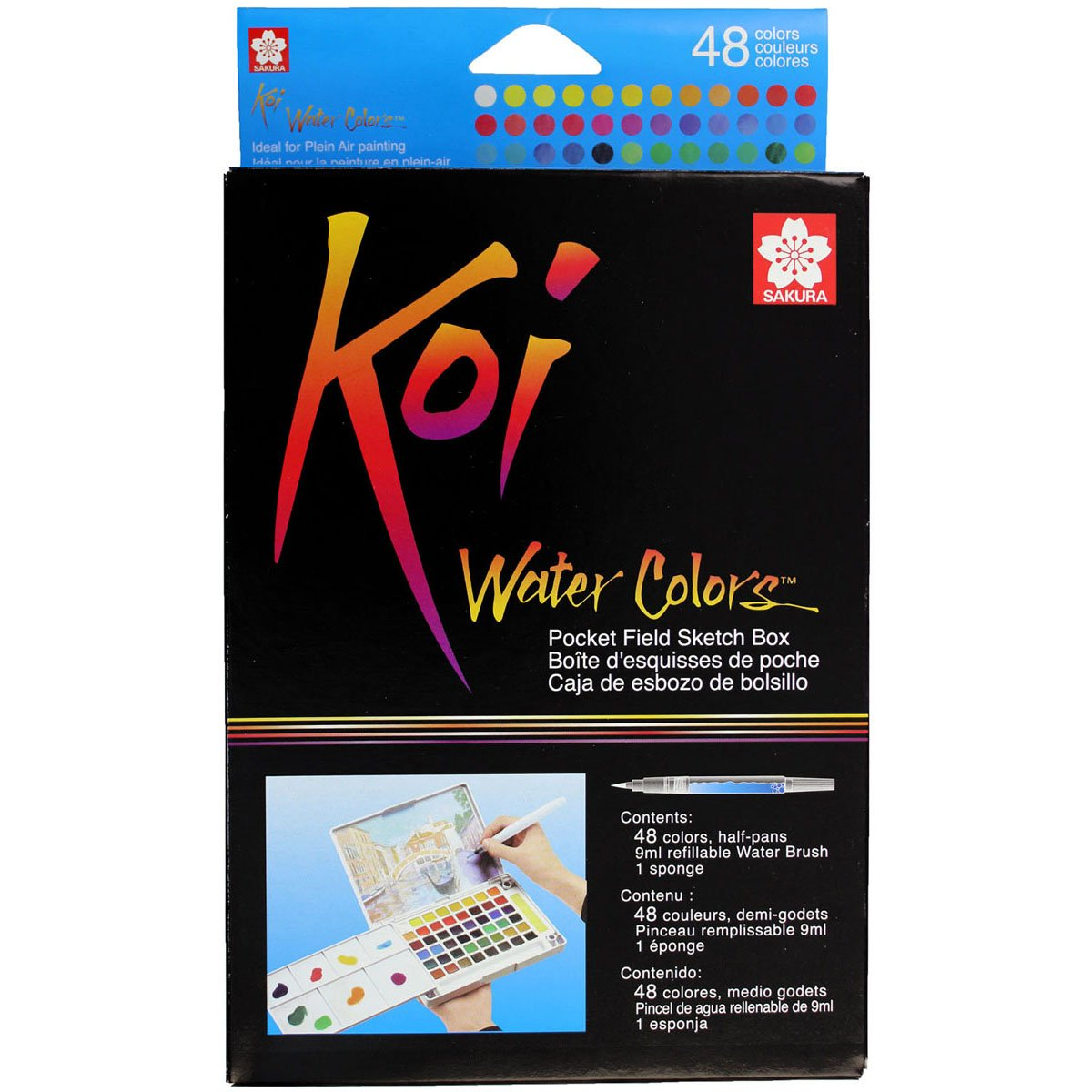 Sakura XNCW-48N Koi Watercolor Field 48 Color Sketch Set Pocket sketch box