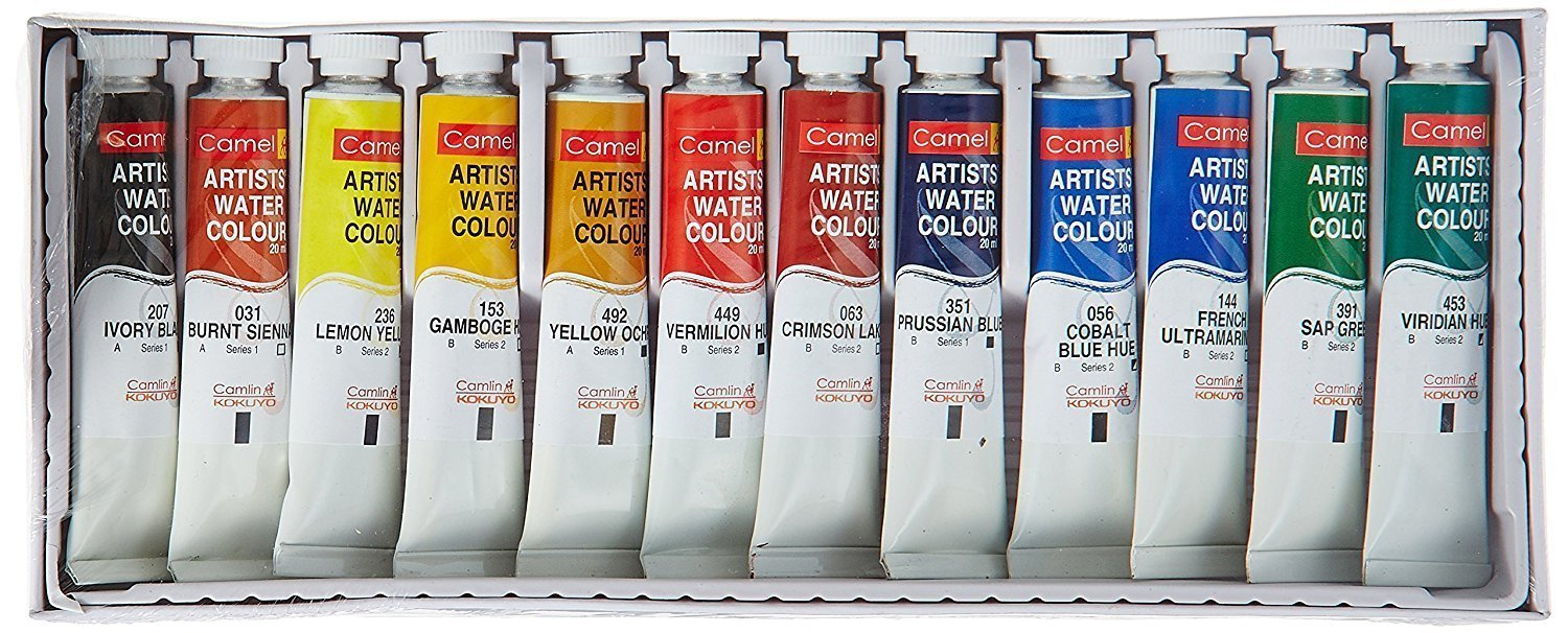 Camel Artist's Water Color - 20ml Each, 12 Shades