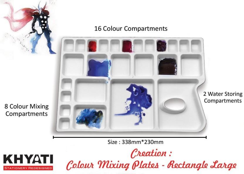 Khyati Rectangle Colour Mixing Palette (Large)