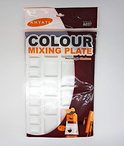 KHYATI Medium Rectangle Shape Colour Mixing Palette/Tray for Artist/Students