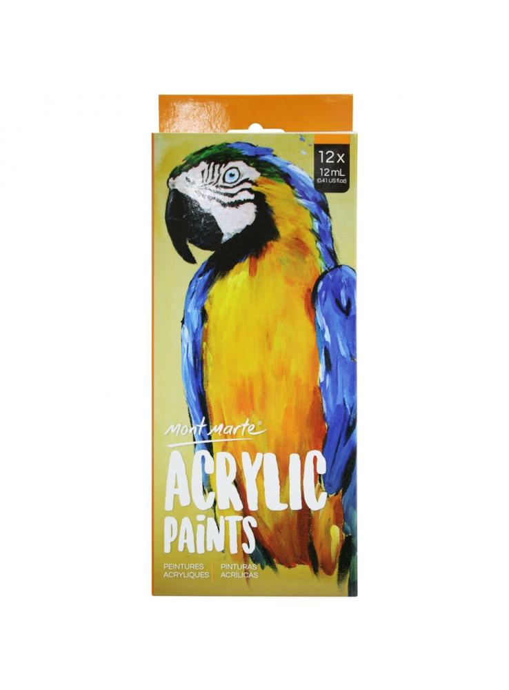 Mont Marte Acrylic Paints 12 colour