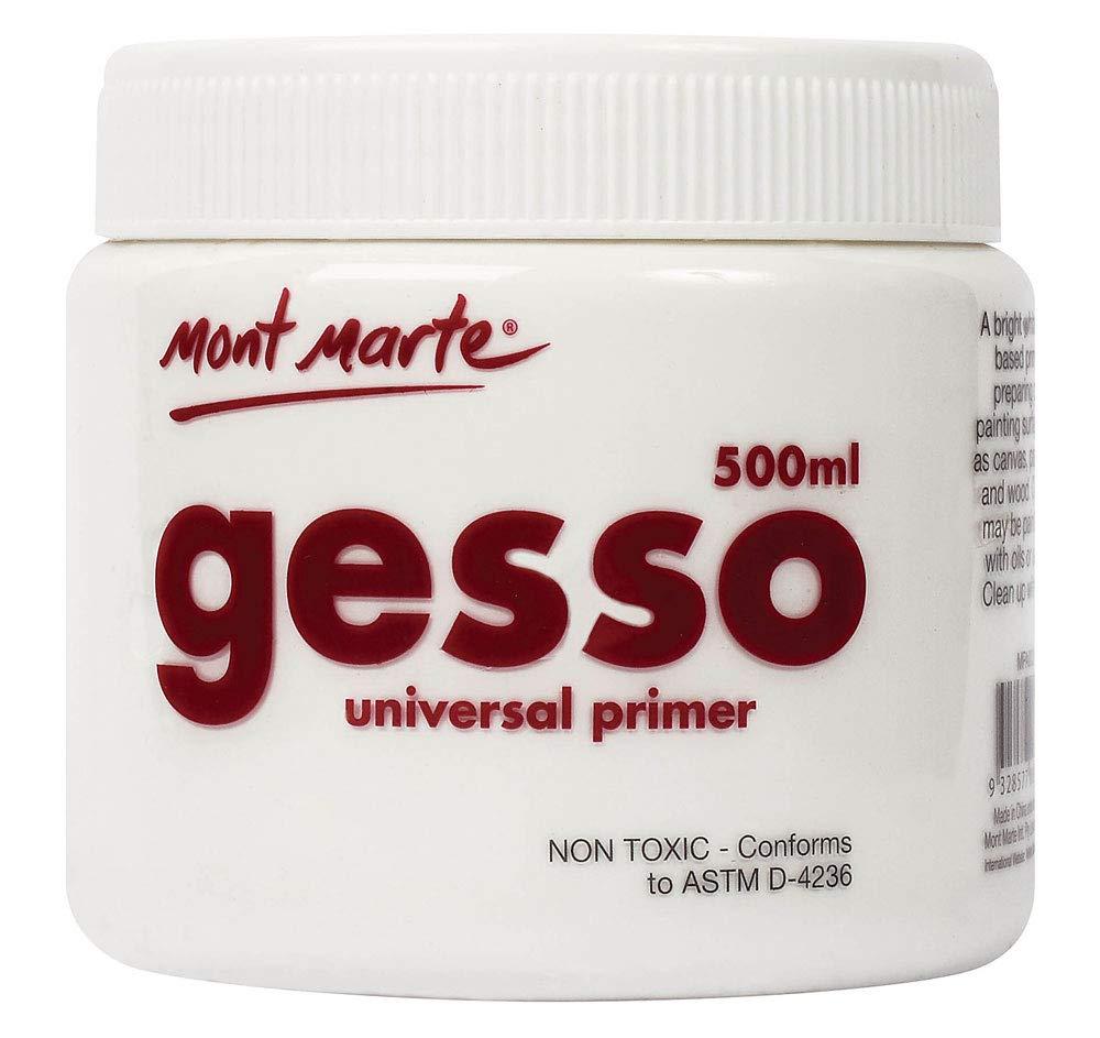 Mont Marte Gesso Universal Primer - 500ml (White)