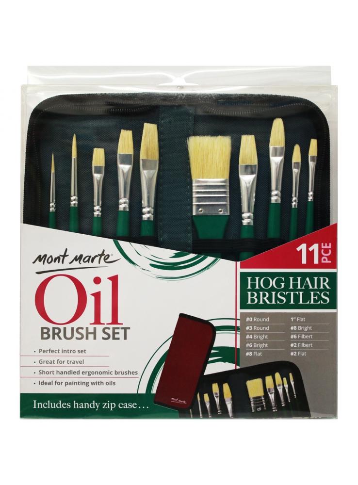Mont Marte Oil Brush Set 11