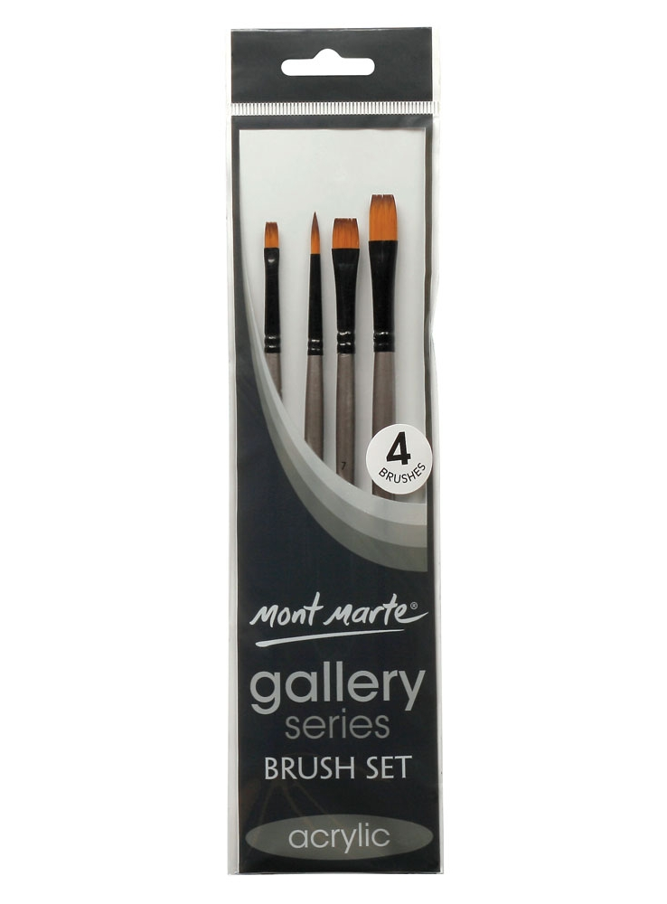 Mont Marte Gallery Series Brush Set Acrylic of 4 BMHS0011