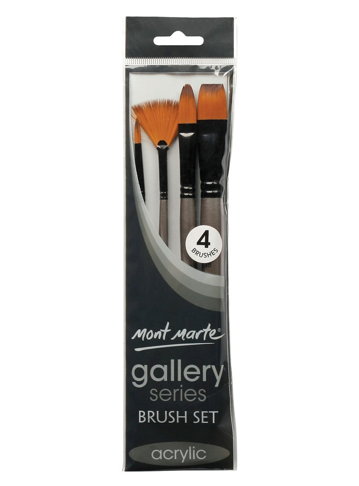 Mont Marte Gallery Series Brush Set Acrylic 4pce BMHS0012