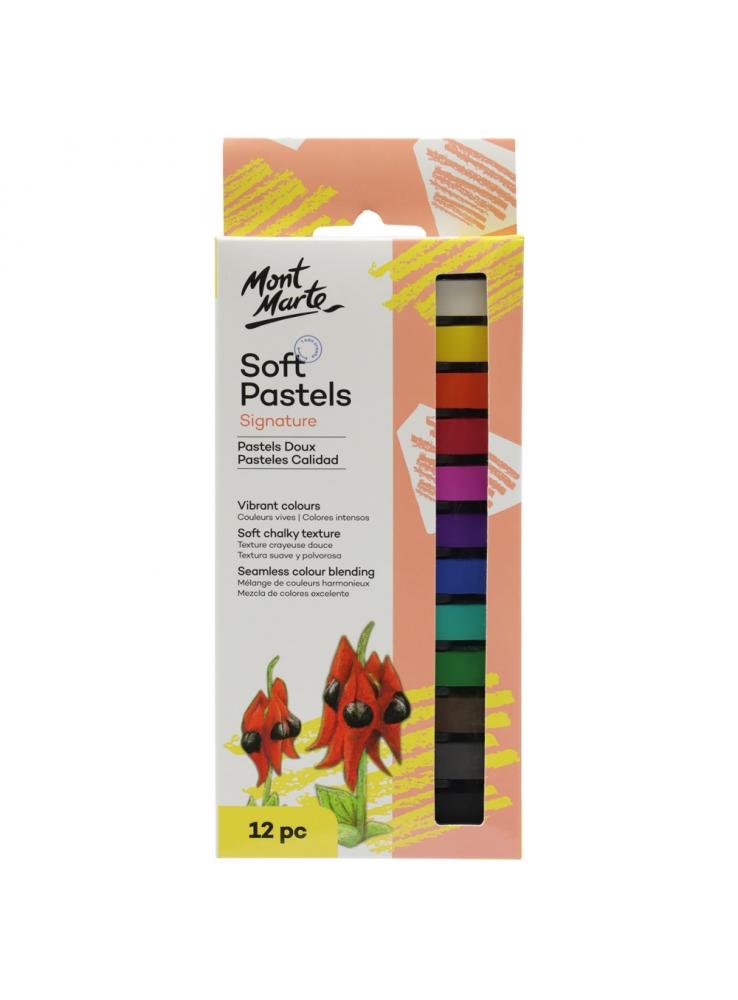 Mont Marte 12 Soft Pastels MMPT0004