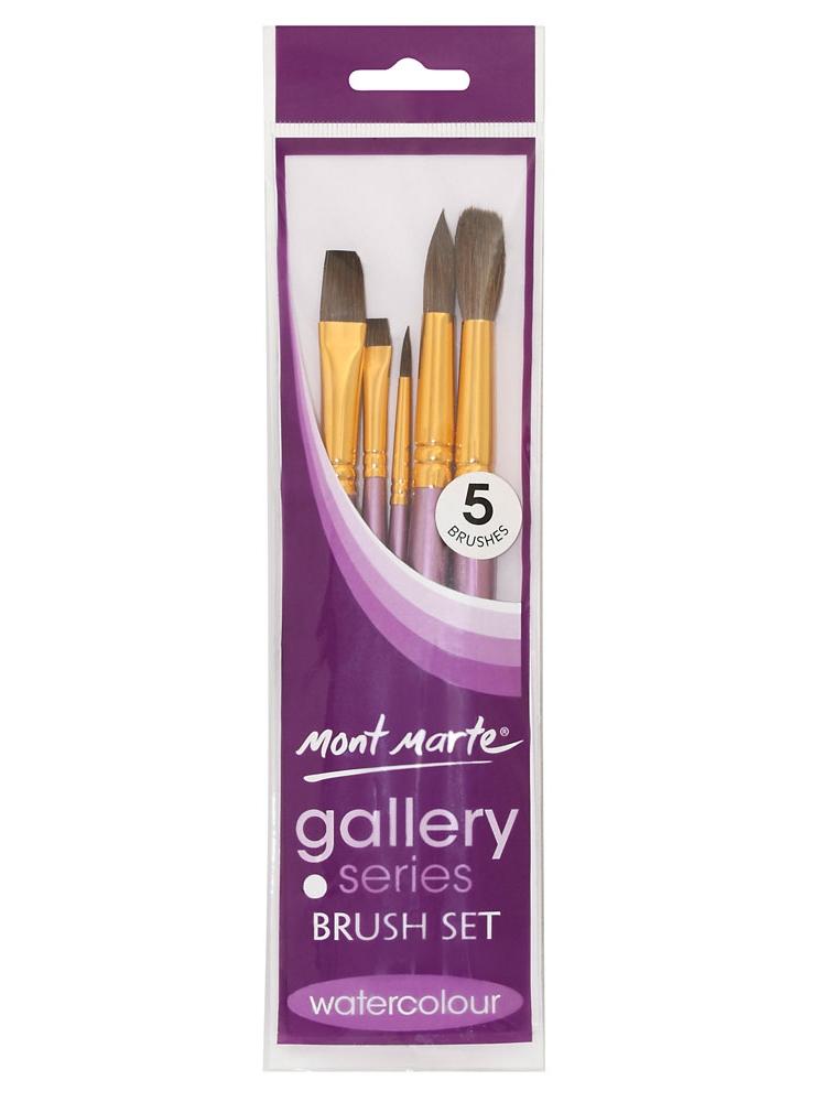 Mont Marte Gallery Series Brush Set Watercolour 5pce