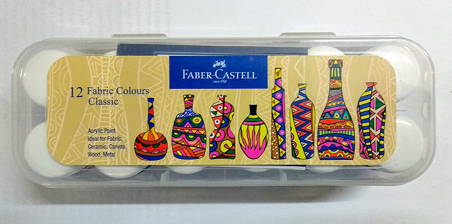 Faber-Castell Fabric Colours - 10ml Each (Pack of 12)
