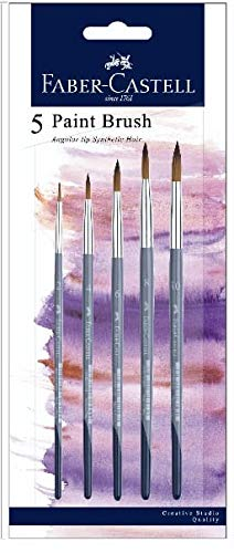 Faber-Castell Angular Synthetic Round Brushes (2, 4, 6, 8, 10)