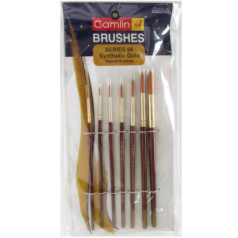 Camlin Synthetic Round Brush Set of 7