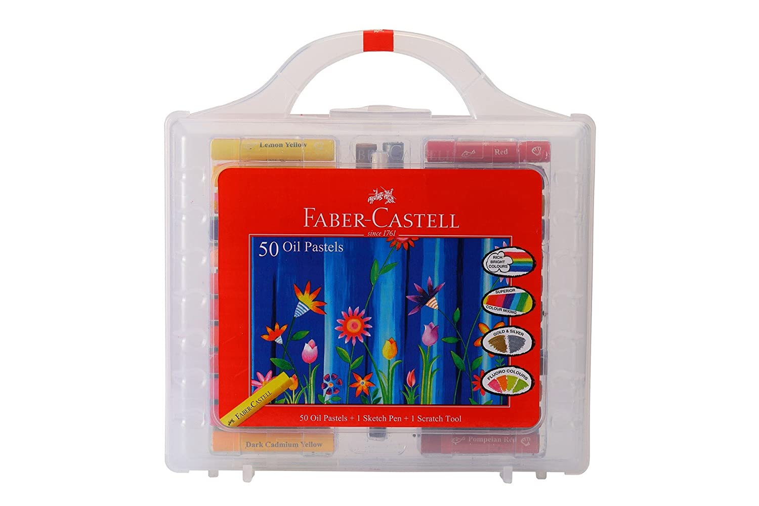 Faber-Castell Oil Pastels Set of 50 Easy to Pack and Carry Colour