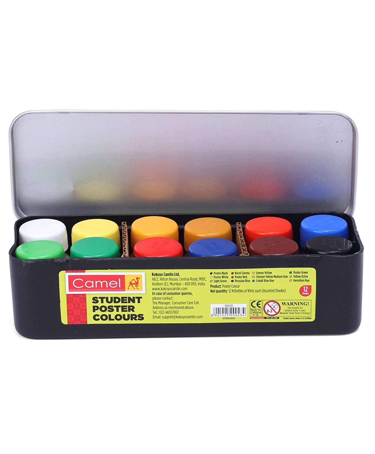 Camel Student Poster Color - 10ml each, 12 Shades