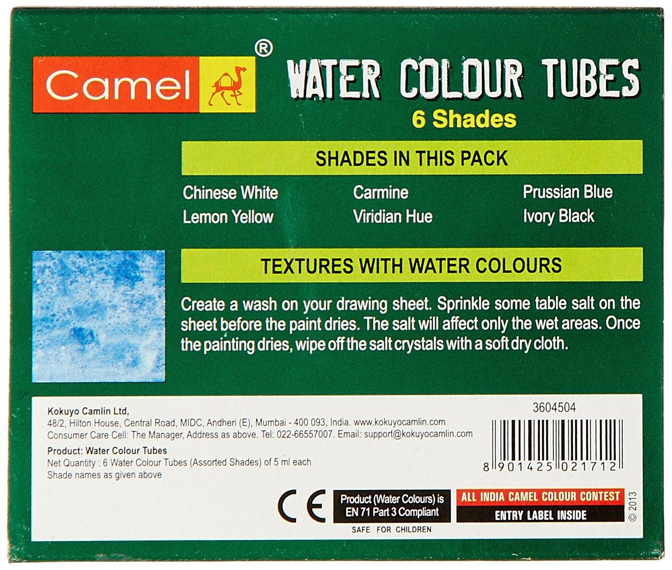Camlin Kokuyo Student Water Color Tube - 5ml Tubes, 6 Shades