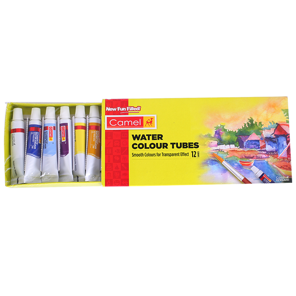 Camel Student Water Colour Tubes - 12 Shades