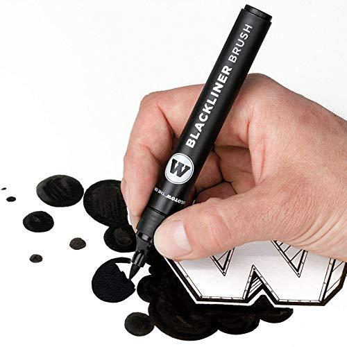 MOLOTOW MARKER PEN (MO703212) BLACK LINER BRUSH