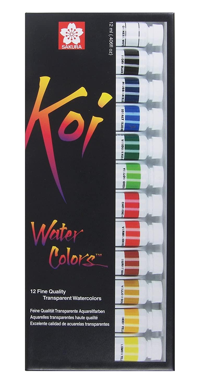 Sakura 12-Piece Koi Assorted Water Color Tube Set