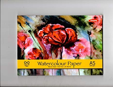 Anupam Water Color Pad - A5, 200 GSM, 20 Sheets