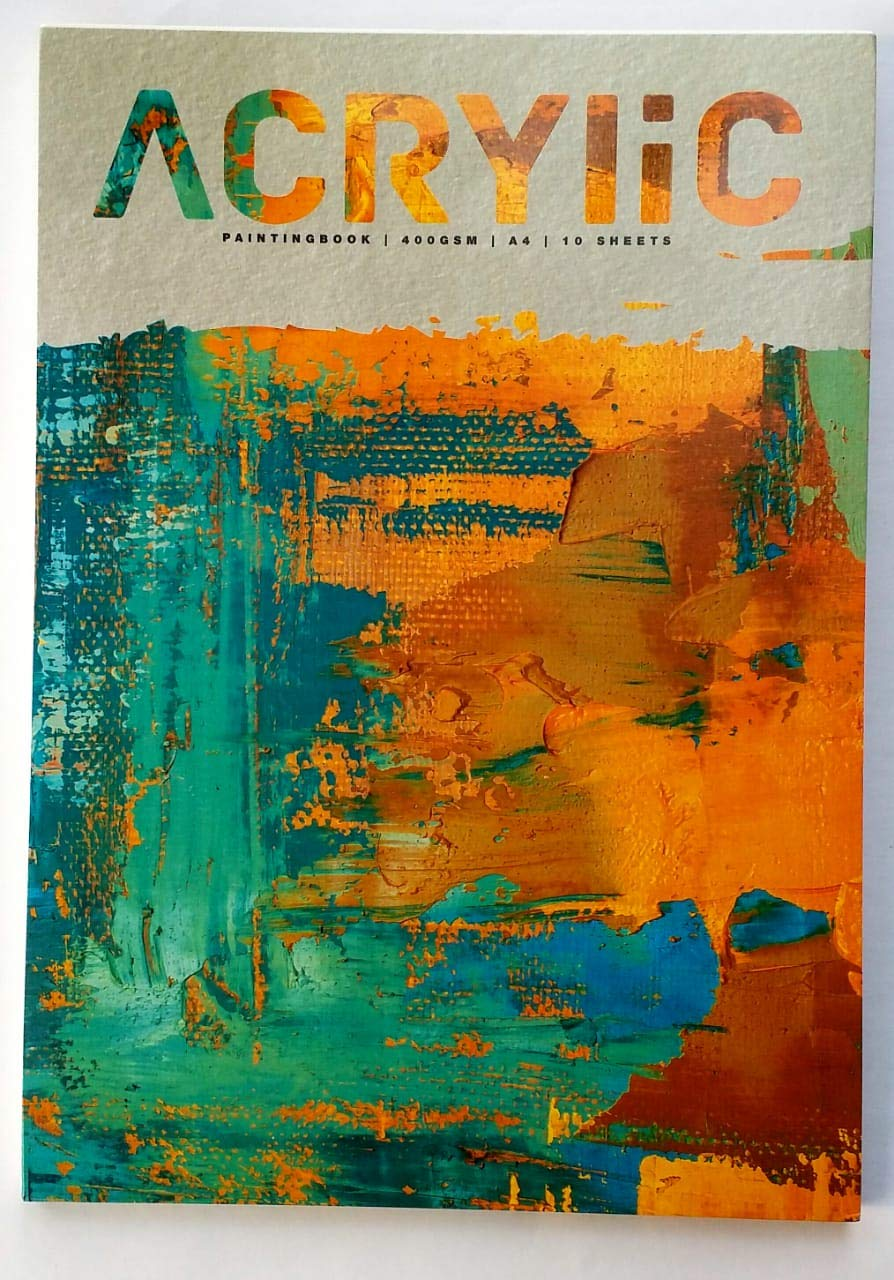 Anupam Artists Acrylic Papers, 400 GSM, 10 Sheets (A4 Size)