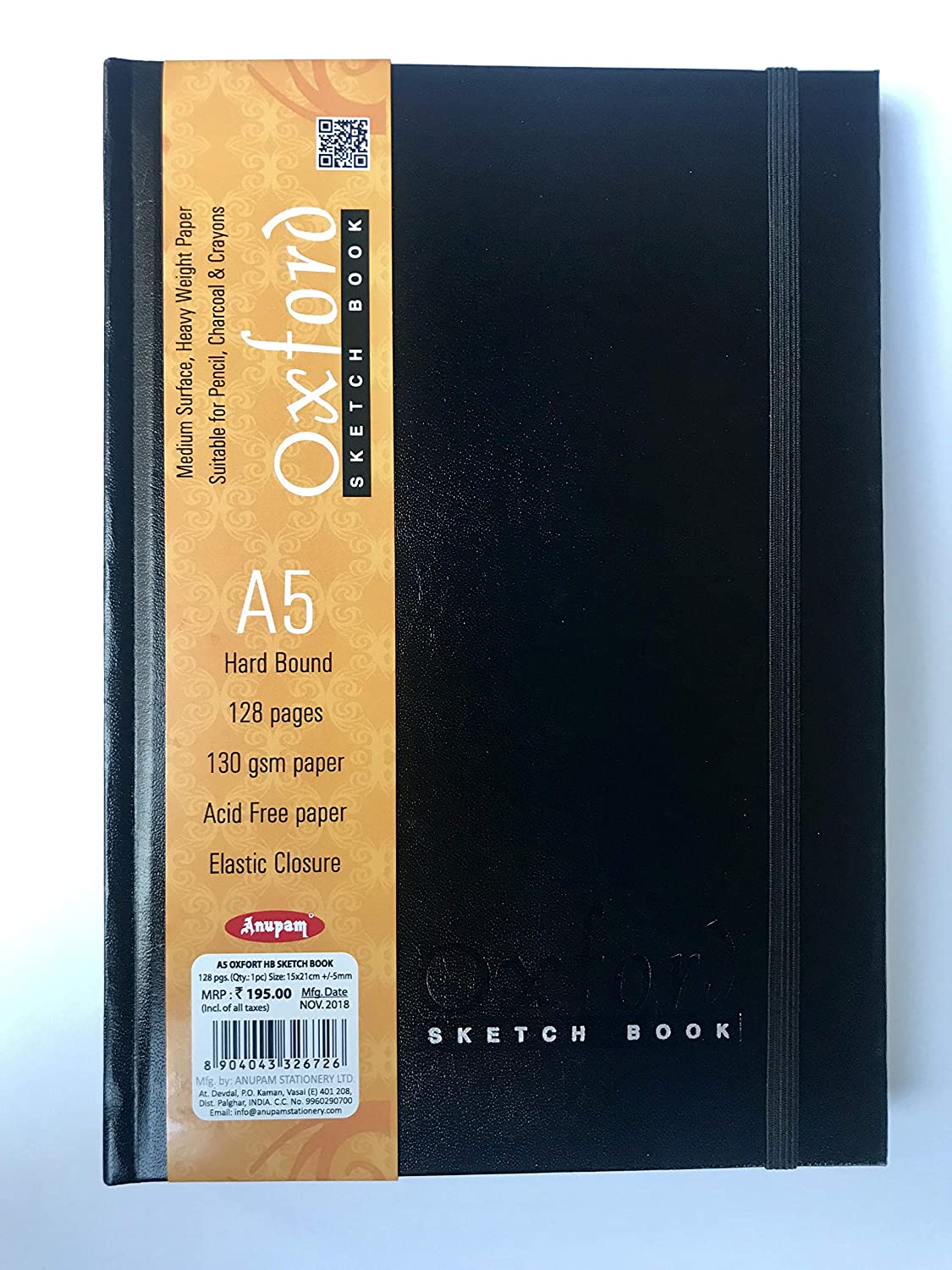 Anupam Oxford Sketch Book (Hb)- 128 Pages, A5