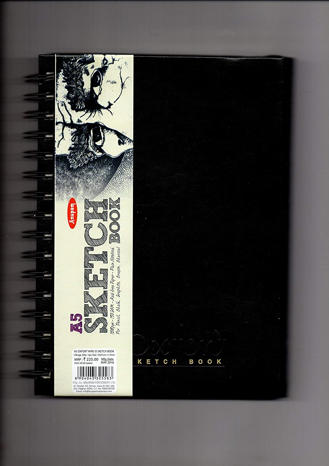 ANUPAM A5 Sketch Book 128 Pages - 130GSM