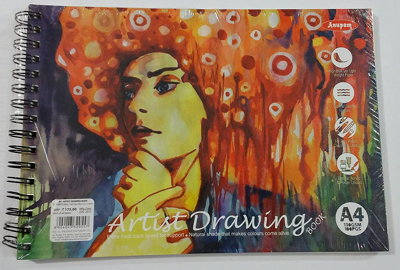 Anupam Artist Drawing Pad - A4, 50 Sheets, 130GSM