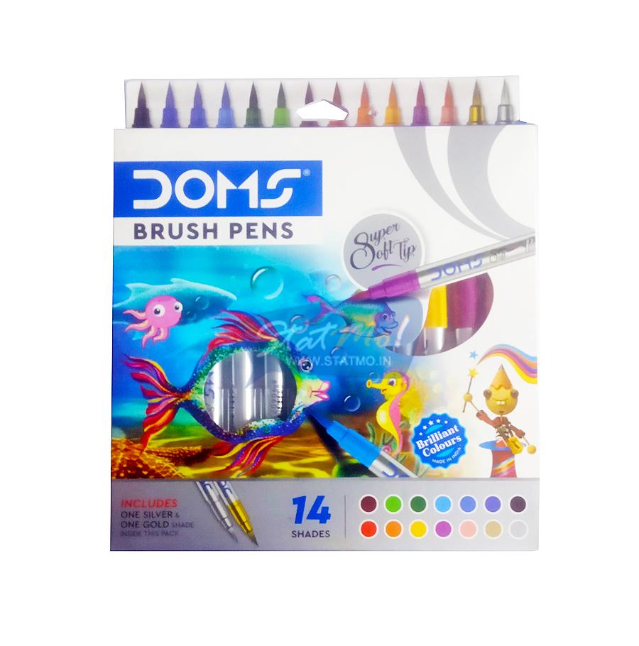 Doms Brush Pens Colour 14 Shades