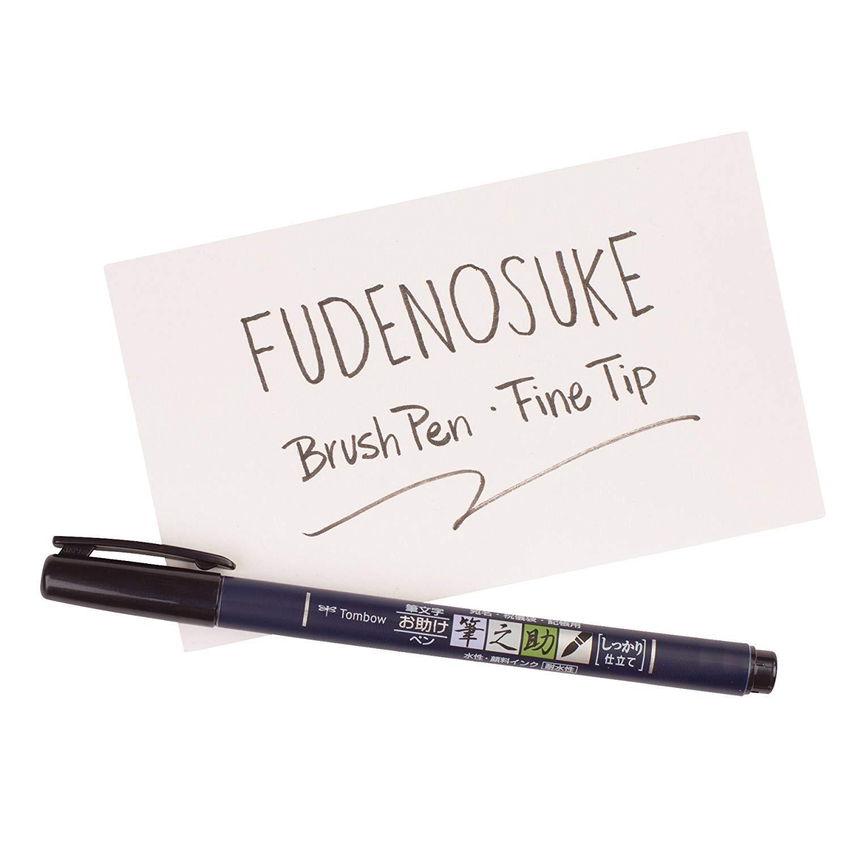 Tombow Fude Brush Pen, Fudenosuke, Hard (GCD-111)