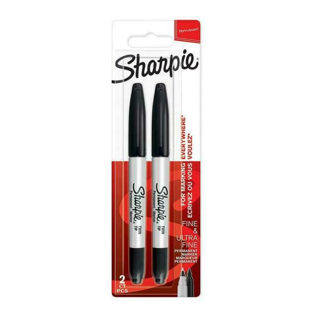 Sharpie Twip Tip Black 2-pcs