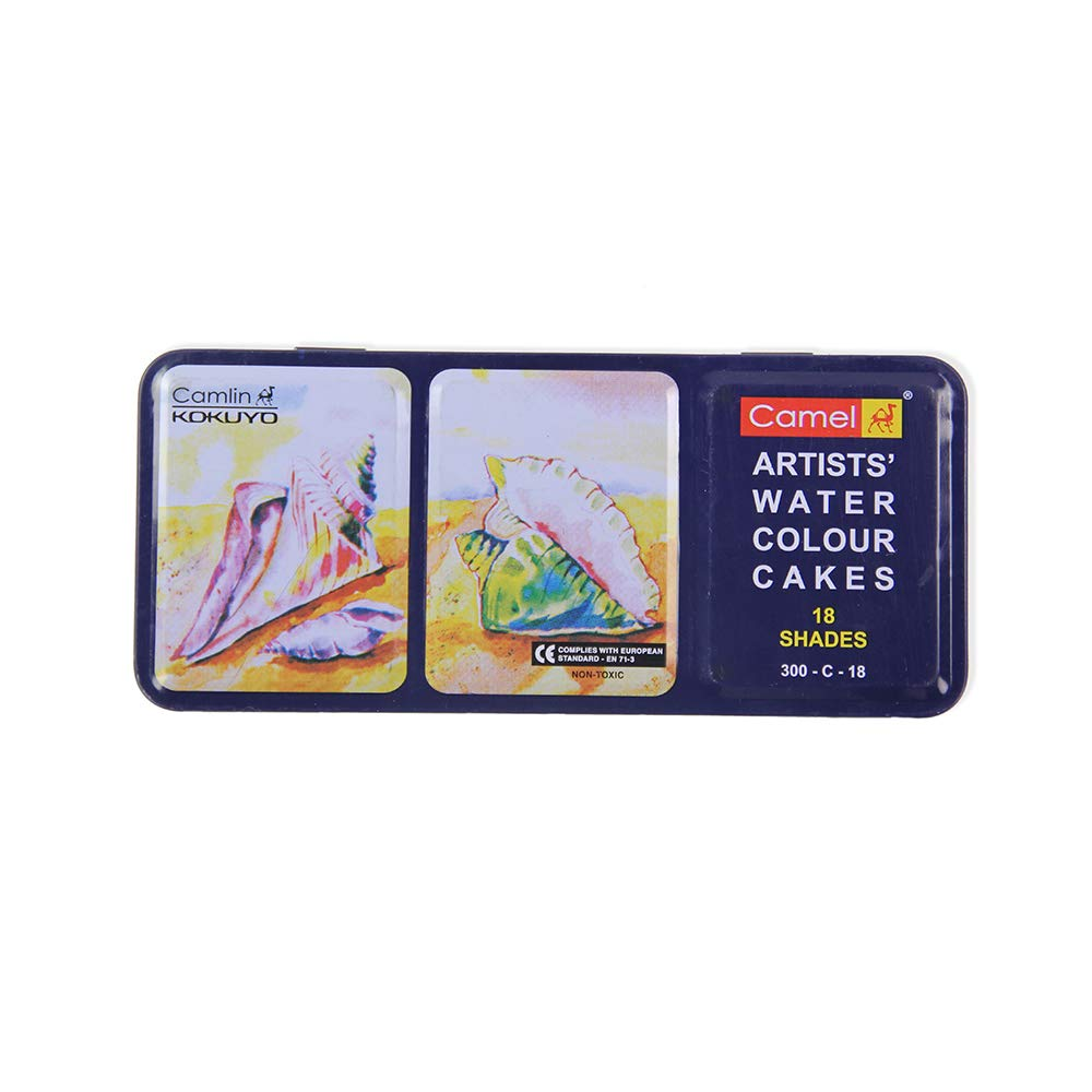 CAMLIN-Artists Water Colour Cakes 18 Shades