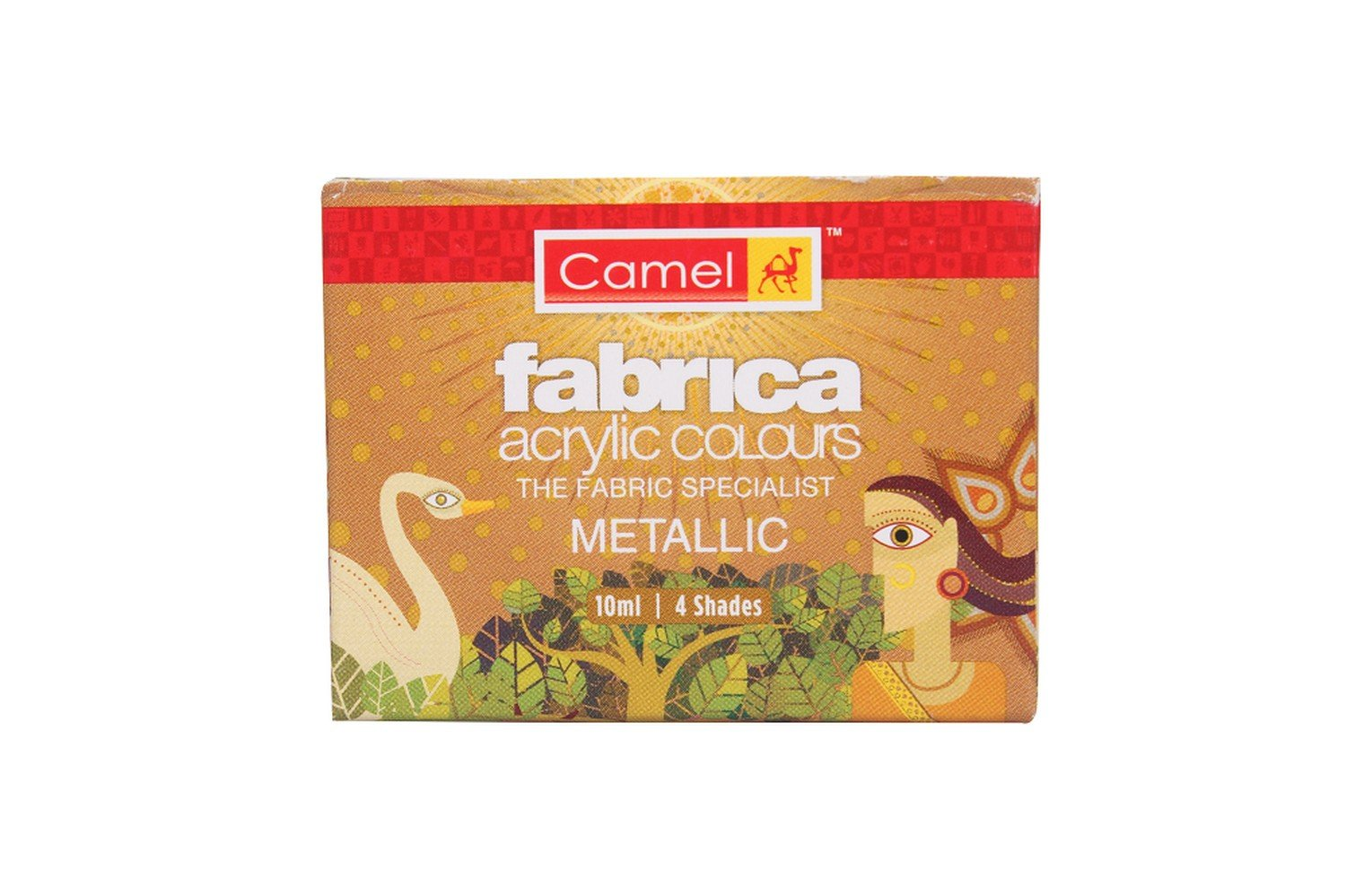 Camel Fabrica Acrylic Metallic Color - 10ml Each, 4 Shades