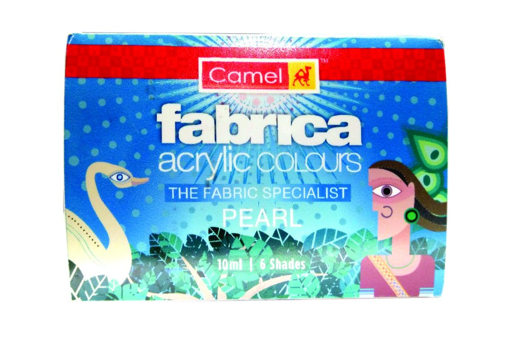 Camel Fabrica Acrylic Pearl Colours - 6 Shades