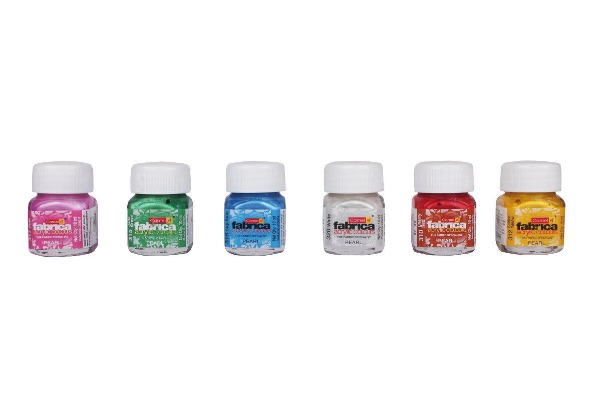Camel Fabrica Acrylic Pearl Colours - 6 Shades