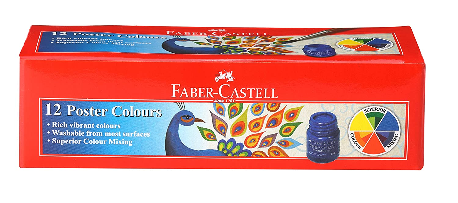Faber-Castell Poster Color - Pack of 12 (Assorted)