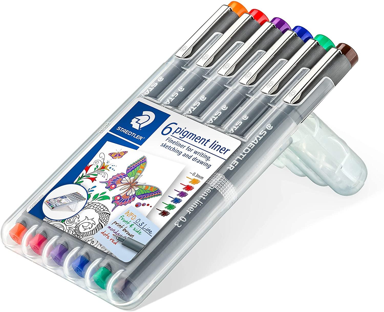 Staedtler Pigment Liner 308 05 SSB6 Fineliner Pen  (Pack of 6)