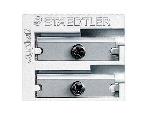 Staedtler 510 20BK Double Hole Metal Sharpener for Pencil and Colored Pencil (1-Each)